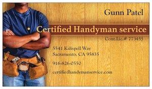 Certified Handyman Service Logo Sacramento Handyman Service