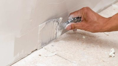 drywall repair with putty